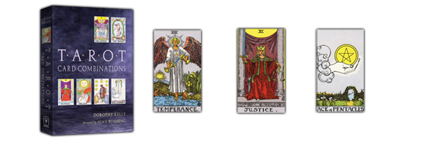 Tarot Card Combinations print logo